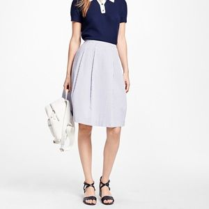 Brooks Brothers • Seersucker Blue Skirt